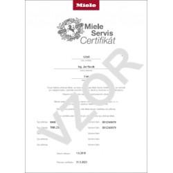 Miele Servis Certifikát - prodloužení záruky o 5 let