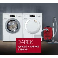 SET pračka Miele WDB 020 + sušička Miele TDB 220 + vysavač Miele zdarma